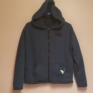 🆕️PINK forest green reversable hoodie